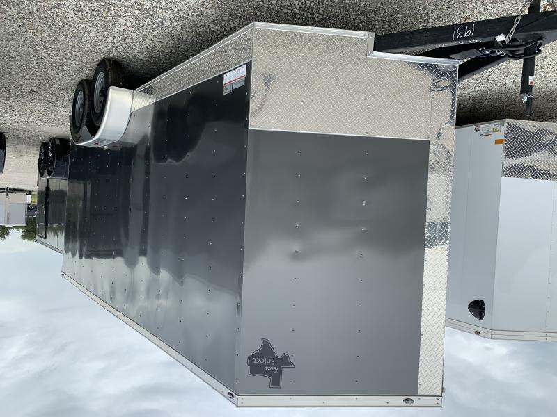 7x16 + V 7 ft interior  Texas Select Charcoal Cargo / Enclosed Trailer