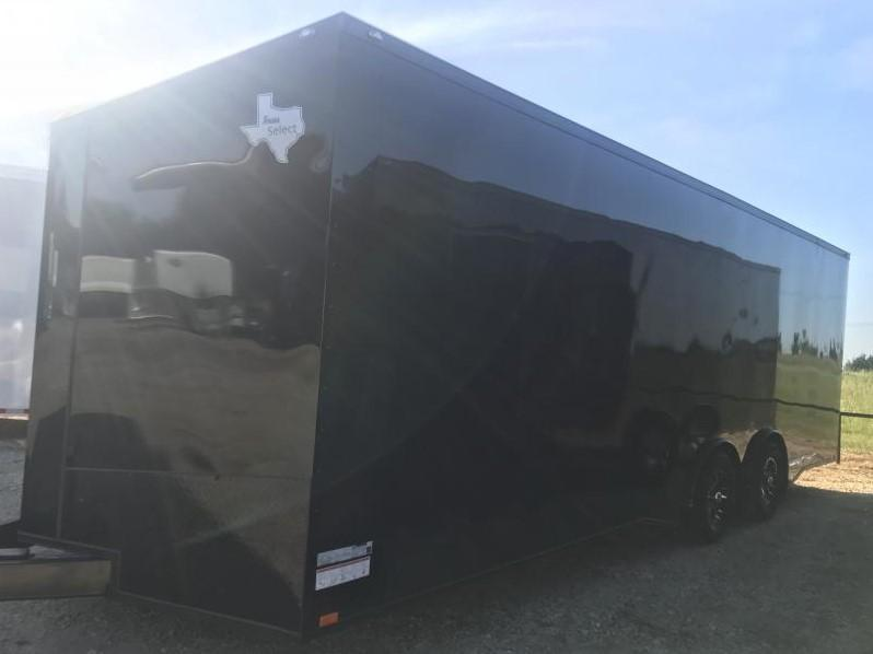 2018 24'   Black Out slant nose torsion axles 7 ft interior