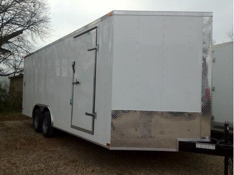 Lark Cargo Trailer 85x20ta v nose 5200 lb axles Ramp door CarHauler