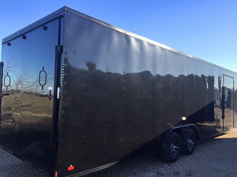 28 Continental Cargo Black Out Car Racing Trailer