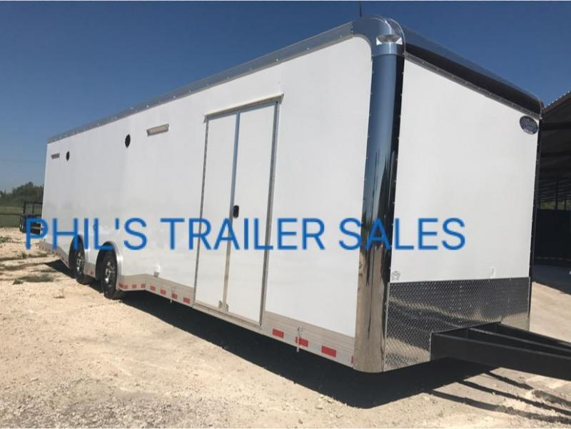 "Continental Cargo Auto Master 32 FT 12"" EXTRA HT STEREO   RACE trailer with STEREO"