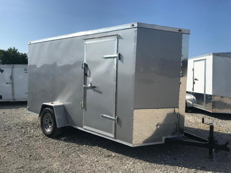 "6x12 6'3"" interior ramp Texas Select enclosed trailer Enclosed Cargo Trailer"