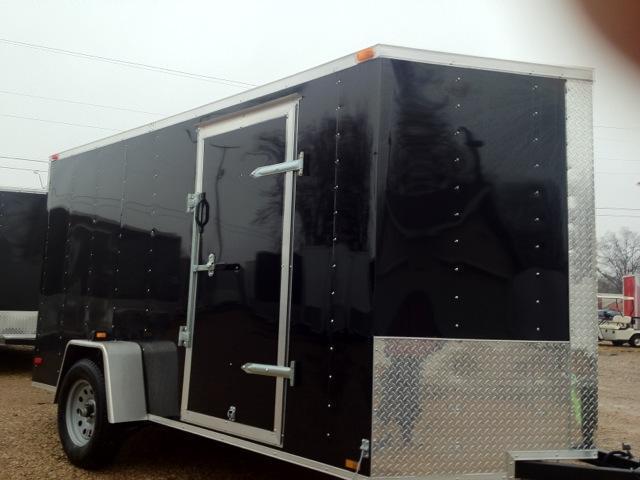 Lark Cargo Trailer 6x12 nose Ramp door V nose