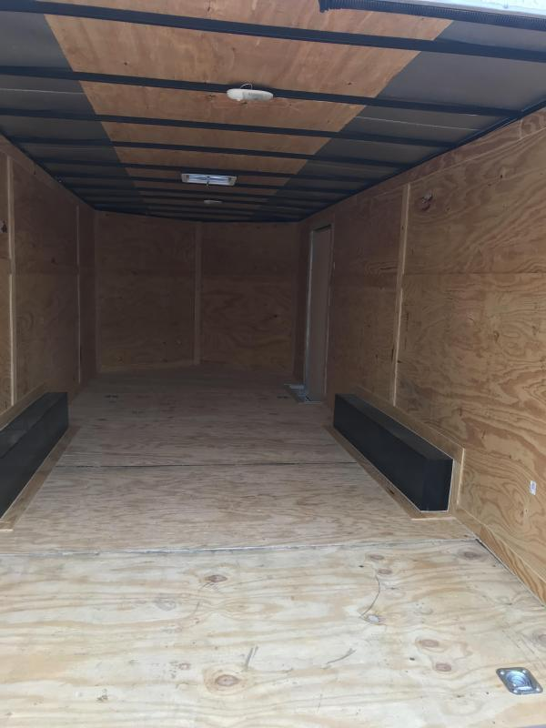 85x24+ 2 v nose 7 FT INTERIOR 5200 lb axles Car hauler Enclosed Cargo Trailer