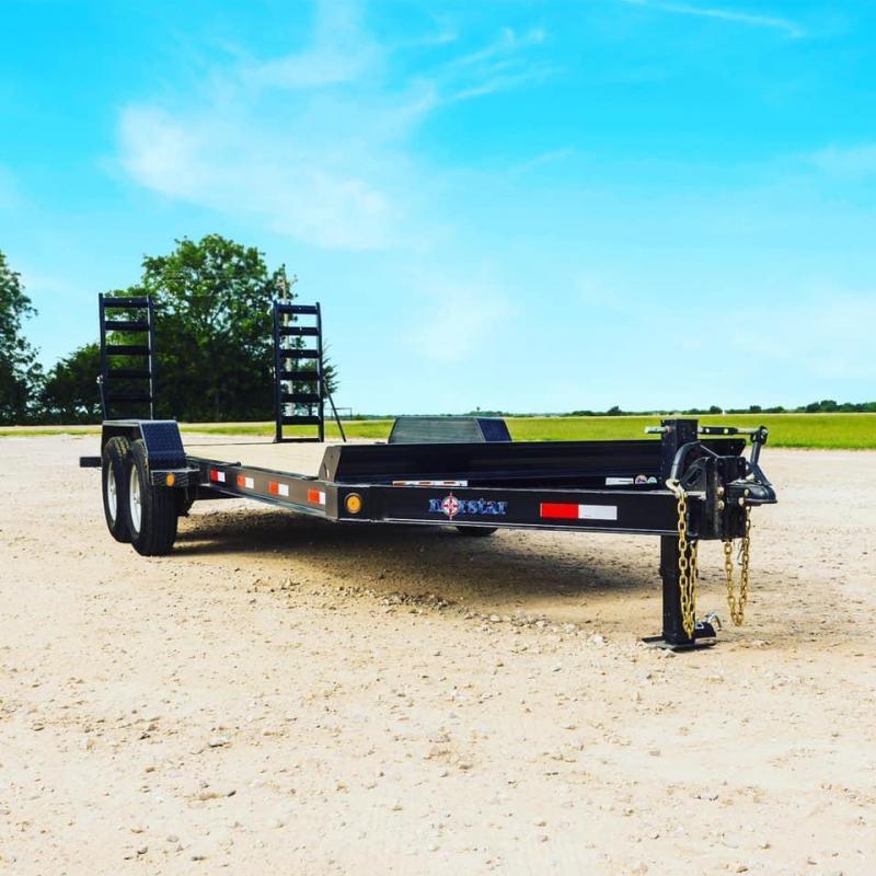20 Norstar HEAVY DUTY Equipment Trailer POWDER COATED FLIP UP RAMPS