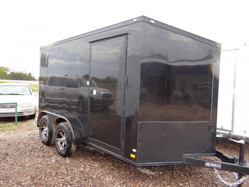 Enclosed Trailer 7x12  Slant Nose Chromed Out Trailer