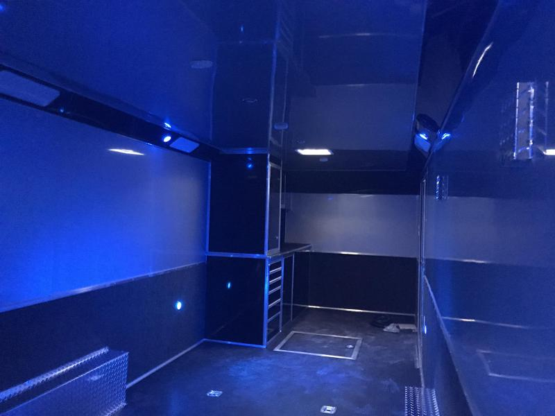30'  Cabinets down side wall X TRA HT  Haulmark edge Car / Trailer