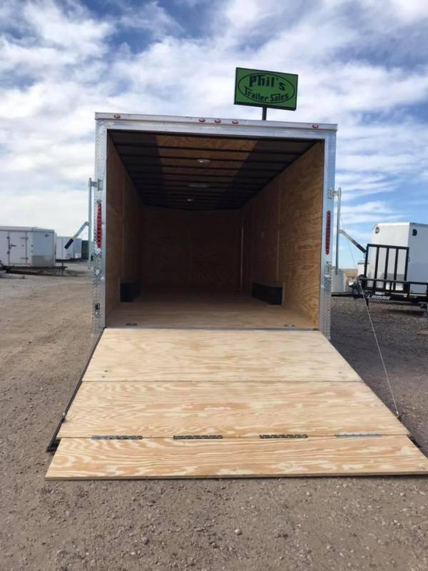 85x20 + 2 v nose 5200 lb axles Car hauler Enclosed Cargo Trailer