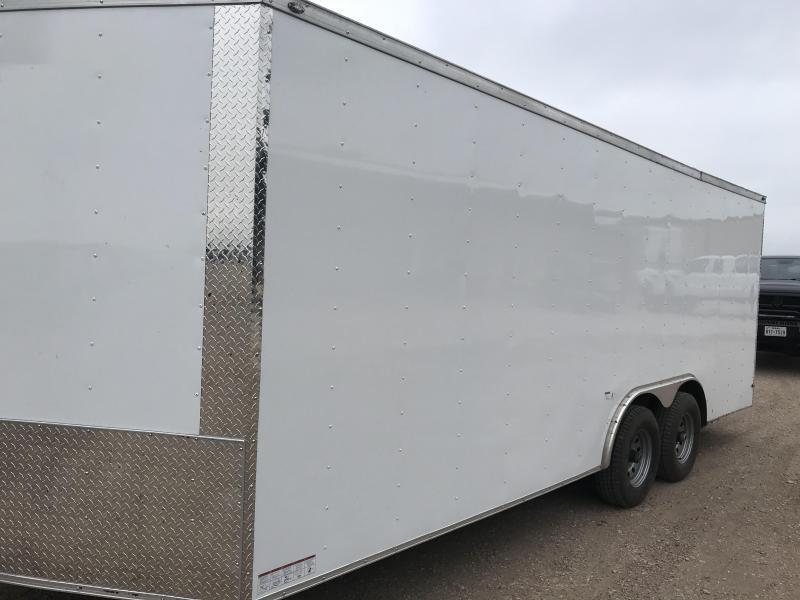 2018 85x20 + 2 v nose 5200 lb axles Car hauler Enclosed Cargo Trailer