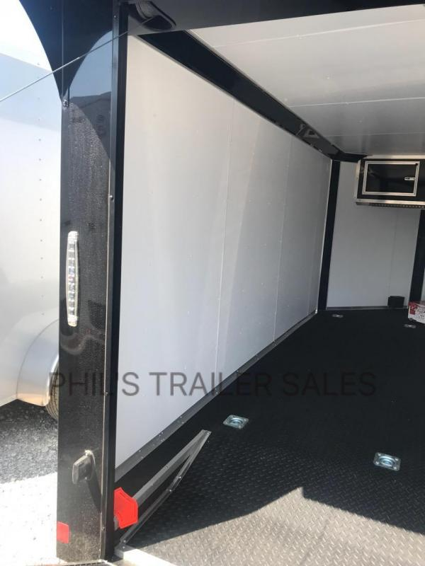 Continental Cargo 7x14 with WING BLACKED OUT MOTORCYCLE TRAILER Enclosed trailer 7x