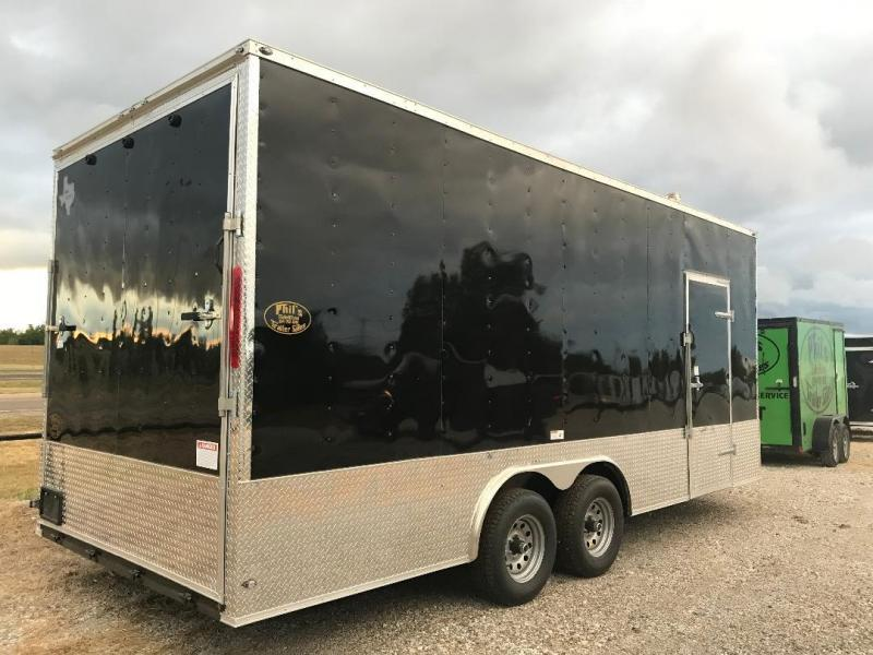 """EXTRA HT  85x20 + 2 v nose 5200 lb 7'6"""" interior  axles Car hauler Enclosed Cargo Trailer"""