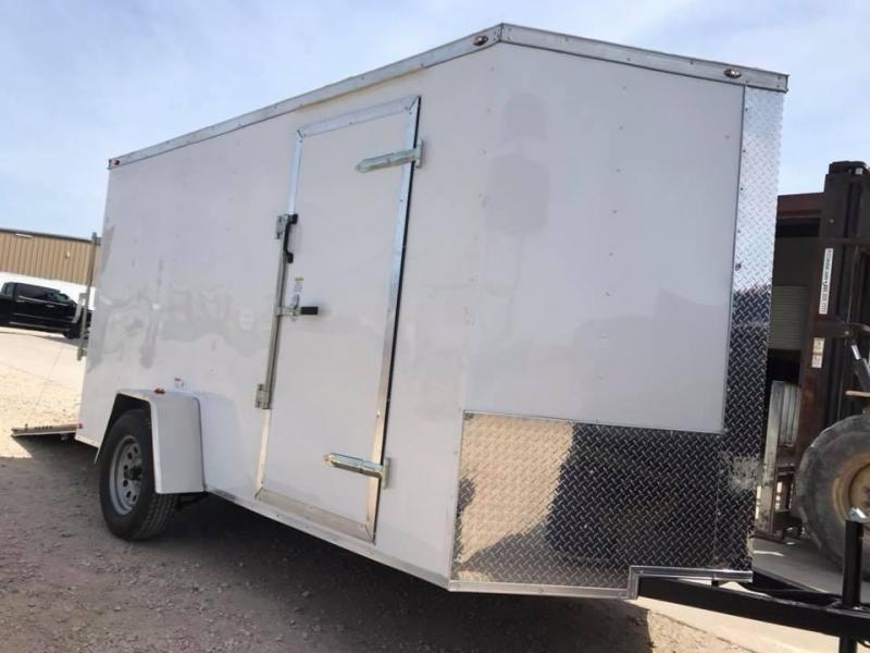 "2018 6x12 6'3"" interior ramp Texas Select enclosed trailer Enclosed Cargo Trailer"