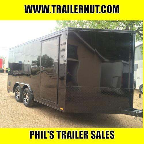 Continental Trailers 8.5x14+ 3 v  BLACKED OUT LOADED Motorcycle Trailer