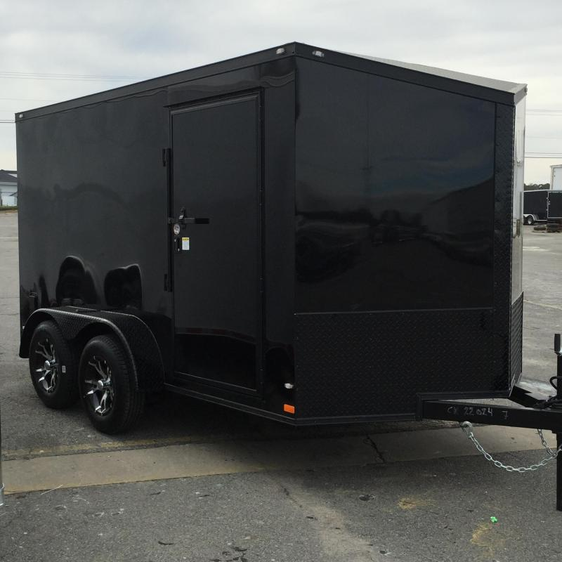 Enclosed Trailer 7x12  Slant Nose Chromed Out Motorcycle Trailer