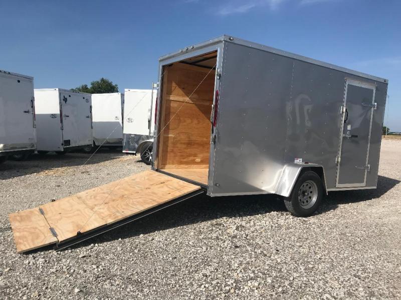 2018 6x12 63 Interior Ramp Texas Select Enclosed Trailer Cargo