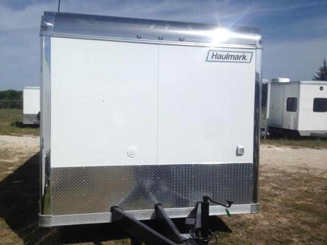 30' Haulmark Edge Car / Racing Trailer LOADED Cabinets down the side wall