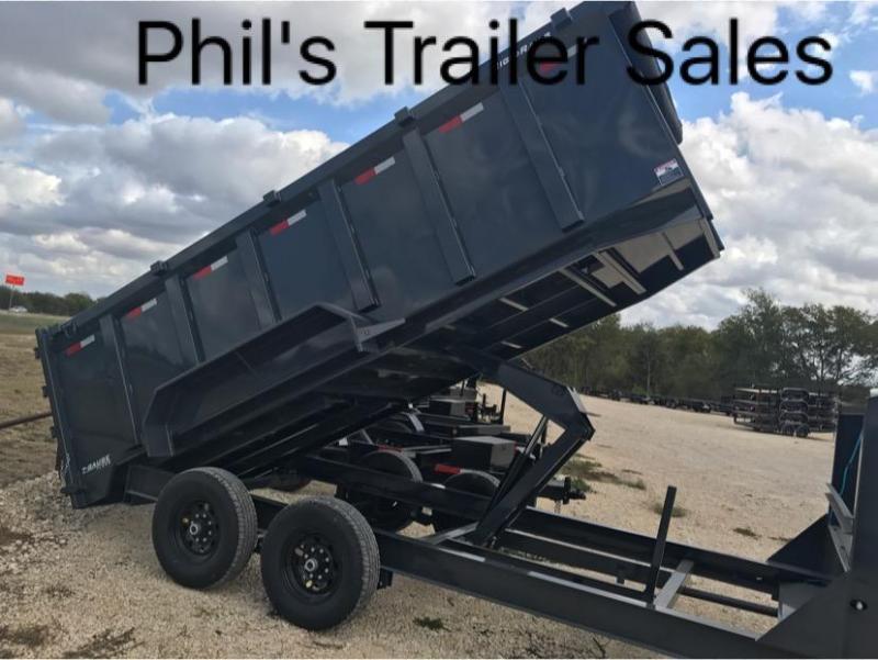 83x16  4 ft sides gooseneck Lamar Trailers Dump Dump Trailer