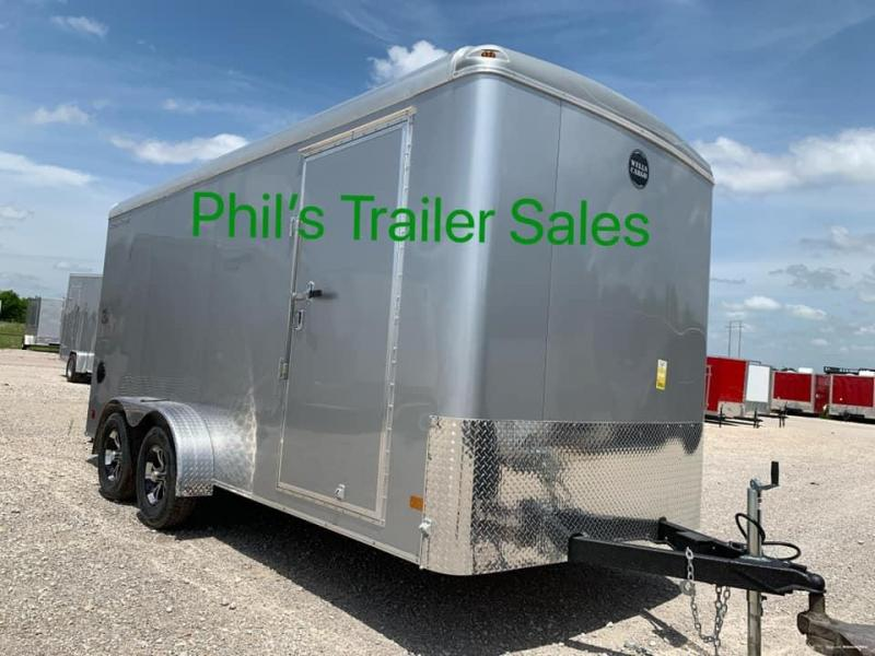 Wells Cargo 7x16 TORSION AXLES screw less  Road force Enclosed Cargo Trailer