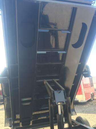 Iron Bull 83x16 DUMP TRAILER POWDER COATED WITH TARP AND RAMP