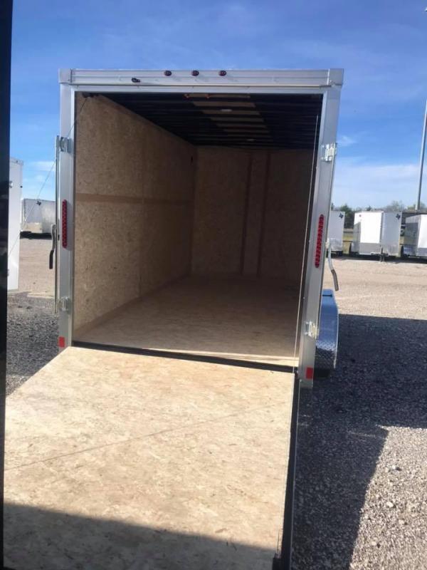 2019 Wells Cargo 7X16 + V 7 FT UTV PACKAGE interior COMMERCIAL GRADE ROAD FORCE Enclosed Cargo Trailer