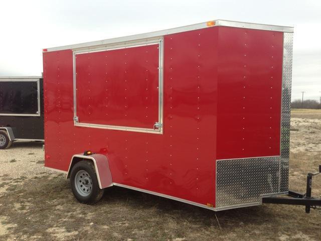 Cargo Trailer 6x12 concession door
