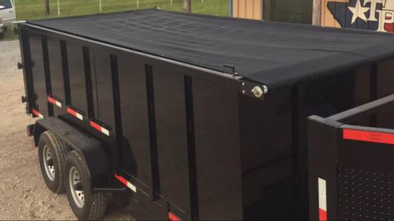 Trailer 83x16 gooseneck Dump trailer with 4 sides tarp ramps Dump Trailer