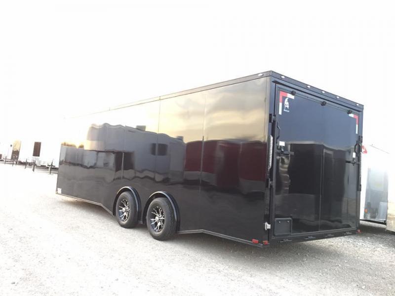 24' SILVER   Black Out slant nose torsion axles 7 ft interior