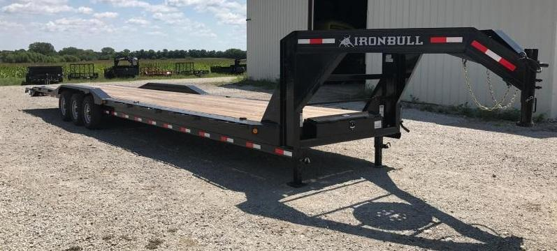 2018 Iron Bull 102 X 40  Equipment Trailer DRIVE OVER FENDERS