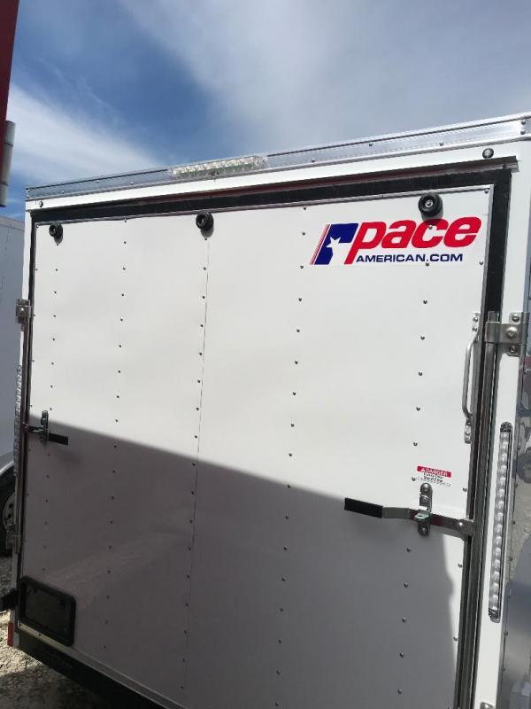 """7X14 + 30"""" v NOSE Pace American TRAILER Enclosed Cargo Trailer RAMP"""