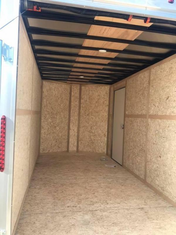 2019 Wells Cargo DOUBLE DOORS WHITE 7X14 + V 7 FT interior COMMERCIAL GRADE ROAD FORCE Enclosed Cargo Trailer