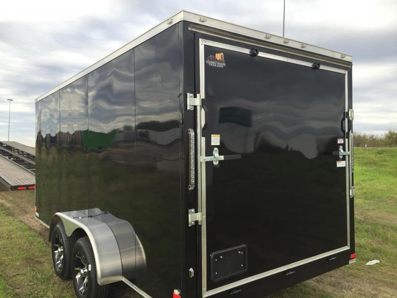 SCREWLESS ALUMINUM WHEELS  7x16 +2 Slant nose Cargo / Enclosed Trailer