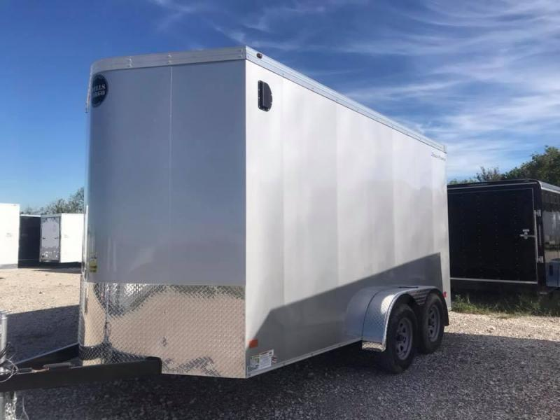 2019 Wells Cargo REAR DOUBLE DOORS 7X16 + V 7 FT  INTERIOR COMMERCIAL GRADE ROAD FORCE Enclosed Cargo Trailer