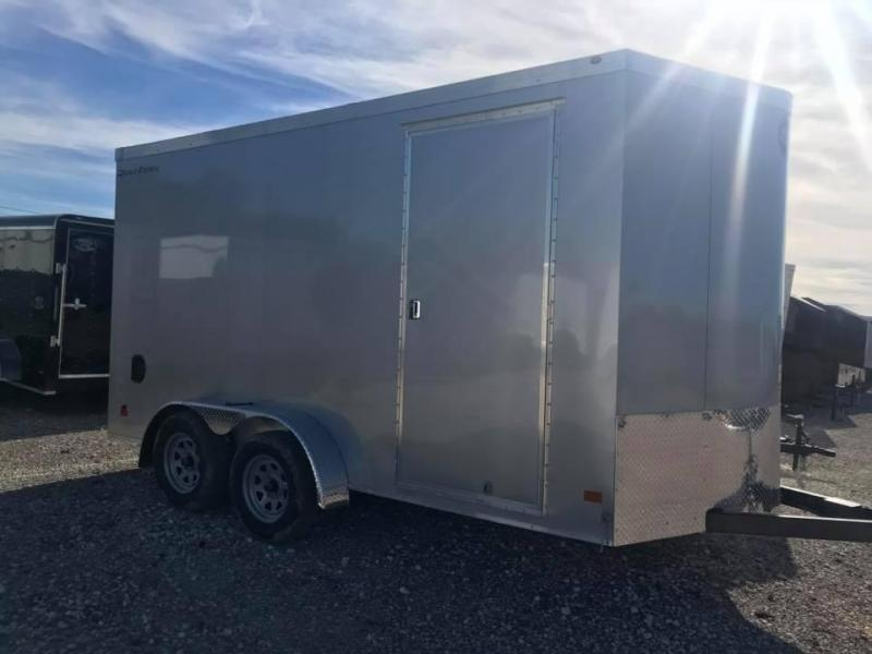 2019 Wells Cargo REAR DOUBLE DOORS 7X16 + V 7 FT  INTERIOR COMMERCIAL GRADE ROAD FORCE Enclosed Cargo Trailer