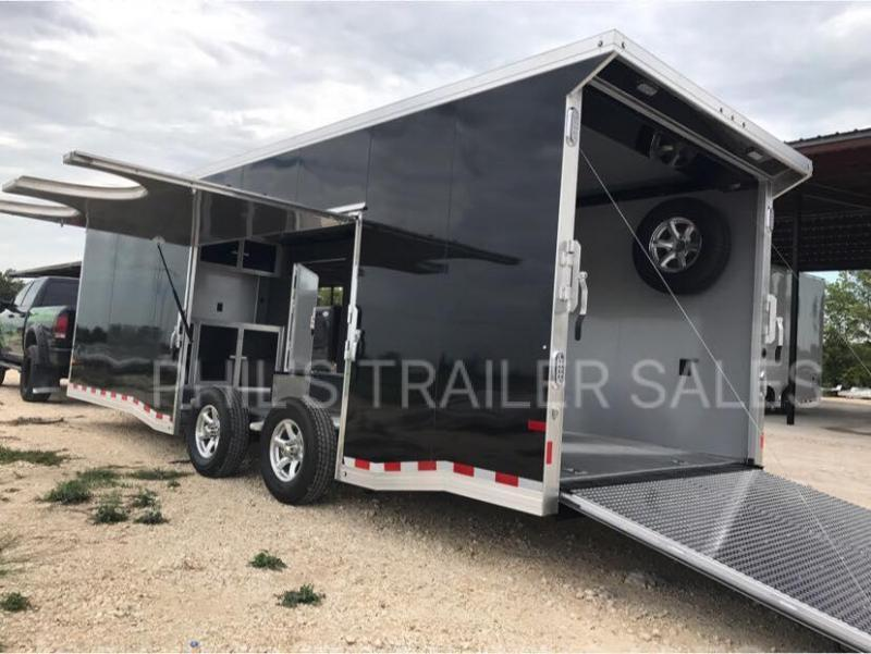 2018 Sundowner Trailers 24 Aluminum 7 ft ESCAPE DOOR Car / Racing Trailer