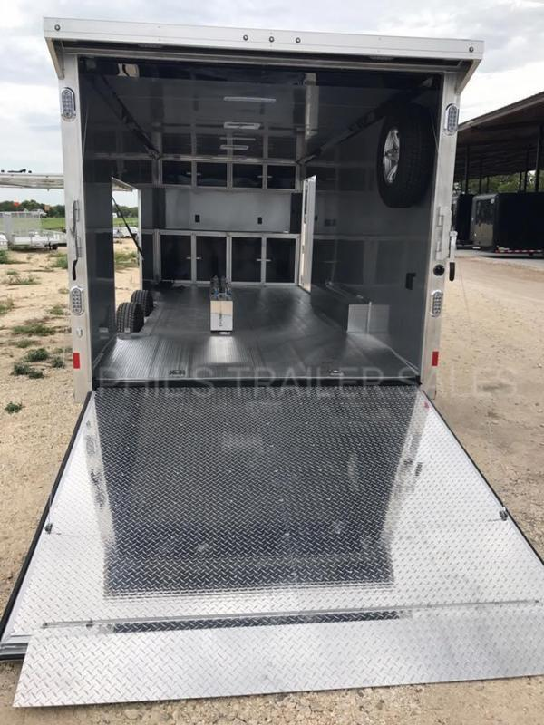 Sundowner Trailers 24 Aluminum 7 ft ESCAPE DOOR Car / Racing Trailer