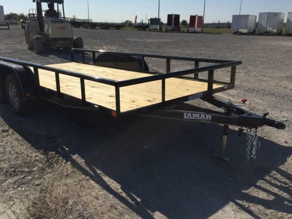 Lamar Trailers 83x16 with BRAKE TUBE TOP  Utility Trailer
