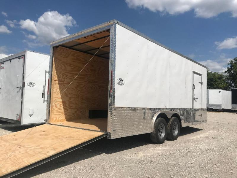 "EXTRA HT  85x20 + 2 v nose 5200 lb 7'6"" interior  axles Car hauler Enclosed Cargo Trailer"