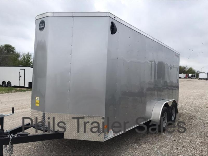 Wells Cargo 7x16 + v 7 FT TALL   Charcoal Enclosed trailer Fast Track Cargo / Enclosed Trailer