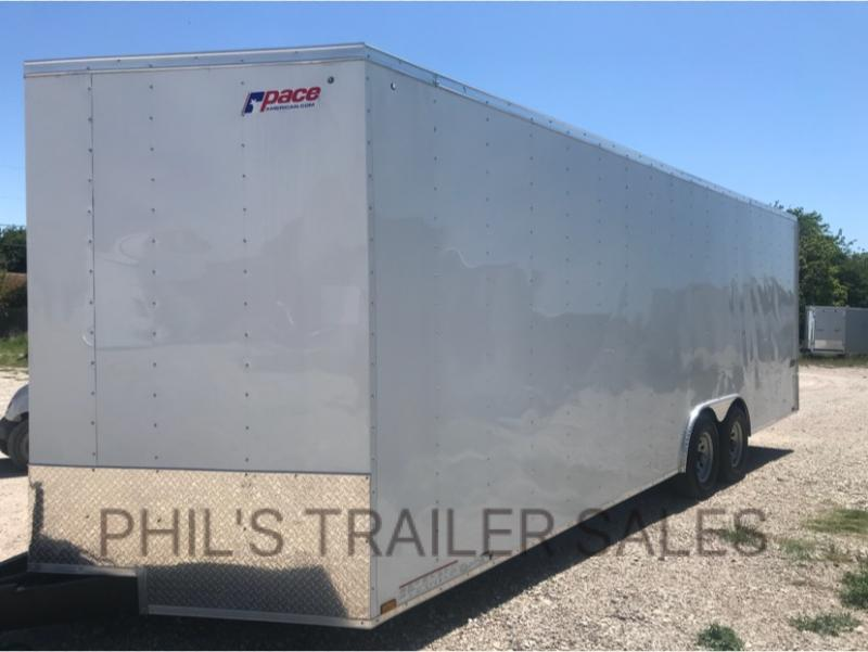 2018 Pace American 8.5 x24 30 V nose 7 ft  CAR HAULER Cargo / Enclosed Trailer