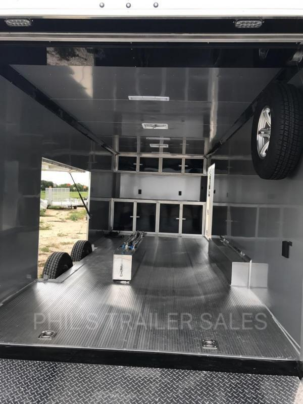 2018 28 ALL ALUMINUM 7 ft Escape door Car / Racing Trailer