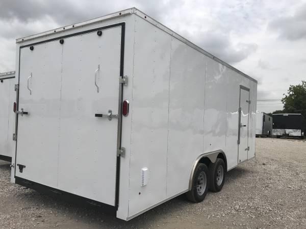 Texas Select 8X16 + v nose 7 interior ht with extras