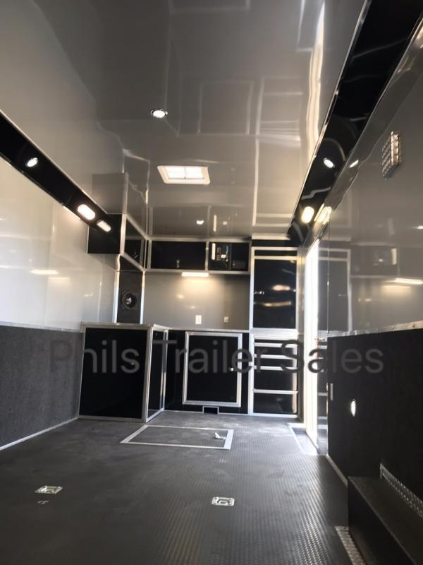 28  BLACK TRIM Haulmark EDGE PRO Car / Racing Trailer LOADED