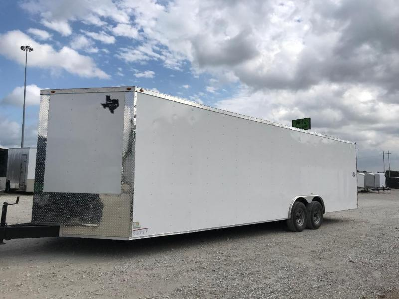 85x24+ 2 v nose 5200 lb axles Car hauler Enclosed Cargo Trailer