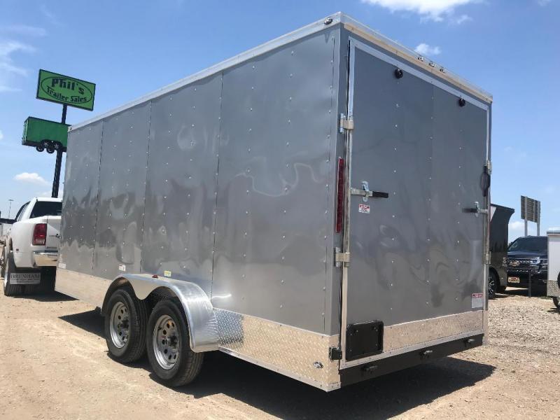 2018 7x16 + 2  7 ft interior ht  EXTRA HT  Enclosed Trailer Enclosed Cargo Trailer