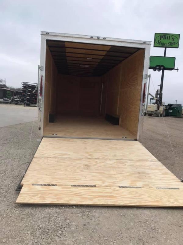 2019 85x24+ 2 v nose 5200 lb 7' interior axles Car hauler Enclosed Cargo Trailer