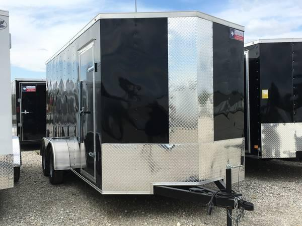 "2018 Texas Select 7x16 + 2 v 6'6"" Enclosed trailer Cargo / Enclosed Trailer"