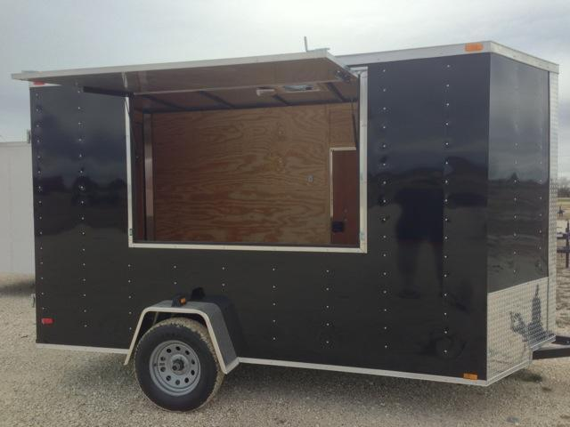 Cargo Trailer 6x12 concession door & Cargo Trailer 6x12 concession door | Enclosed Trailers Cargo ...