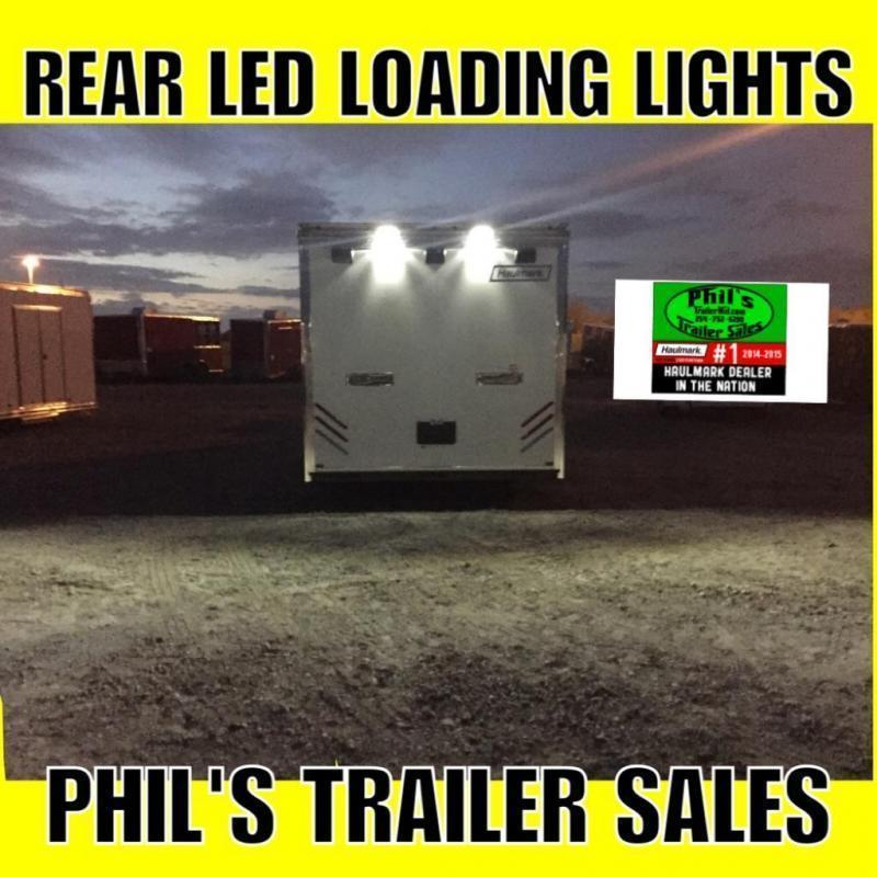 24' Haulmark Edge SILVER WITH BLACK TRIM Car / Racing Trailer LOADED
