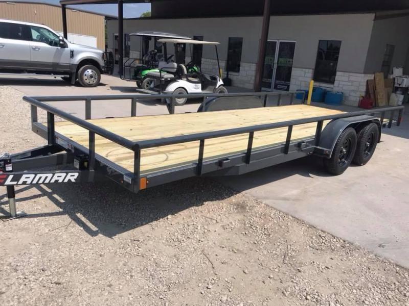 2019 83X18 Lamar Trailers CHANNEL FRAME Flatbed Trailer