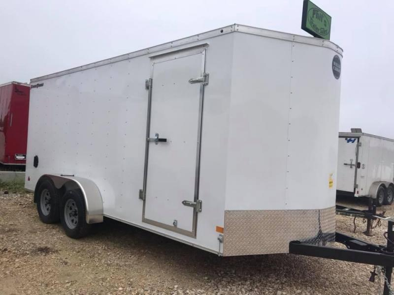 "Wells Cargo DOUBLE DOOR  7x16 + v 6"" extra ht Enclosed trailer Fast Track Cargo / Enclosed Trailer"